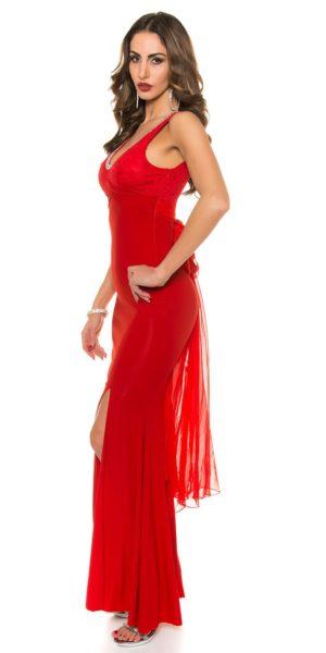 AL030 Abito da cerimonia lungo elegante da matrimonio rosso abito da sera 31d6d44b355