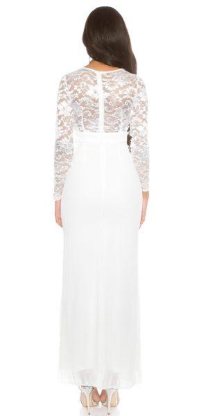 Visualizzazione Veloce. Abbigliamento. AL025 Abito da cerimonia lungo  elegante da matrimonio bianco ... 3647ad3a667