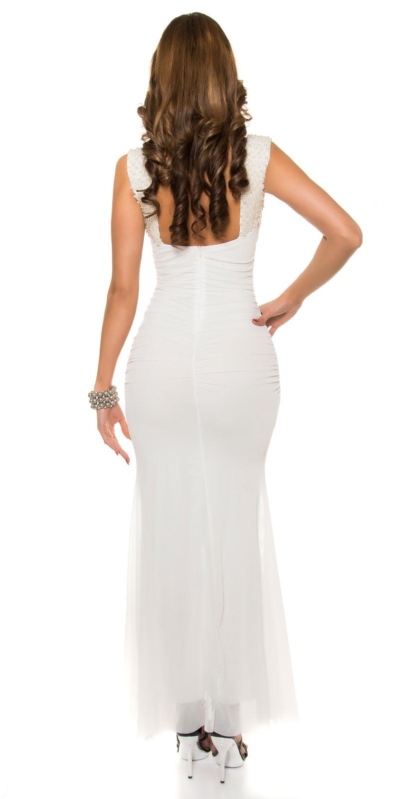 AL031 Abito da cerimonia lungo elegante da matrimonio bianco abito da sera 700579e9391