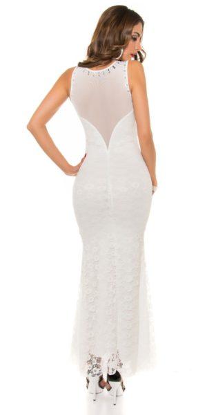 AL012 Abito da cerimonia in pizzo lungo elegante da matrimonio bianco abito  da sera ef90db7e7a9