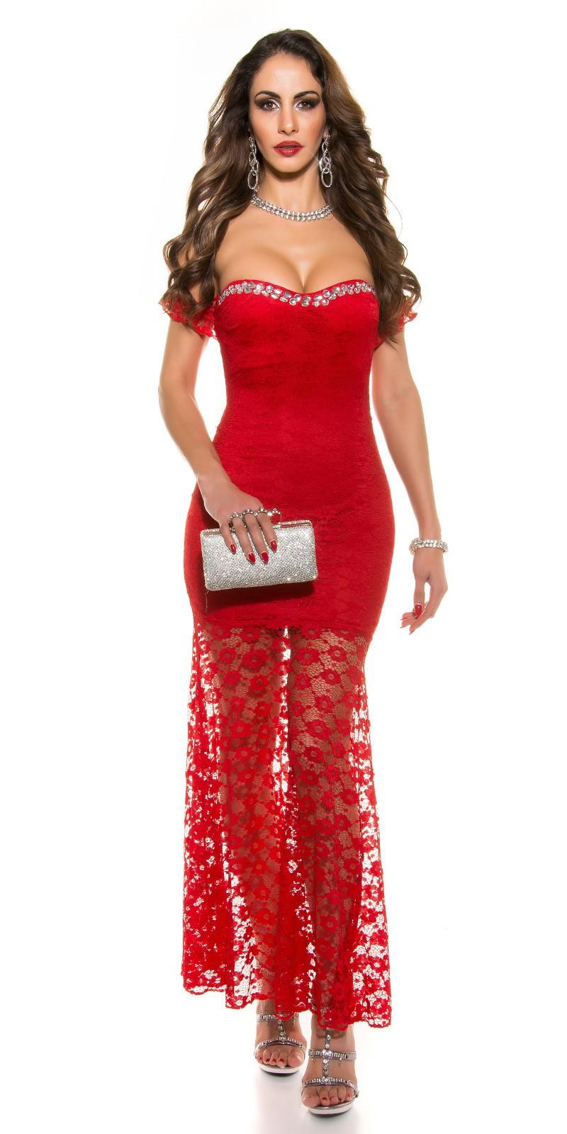 competitive price 39b88 927ee AL036 Abito da cerimonia lungo elegante rosso abito da sera