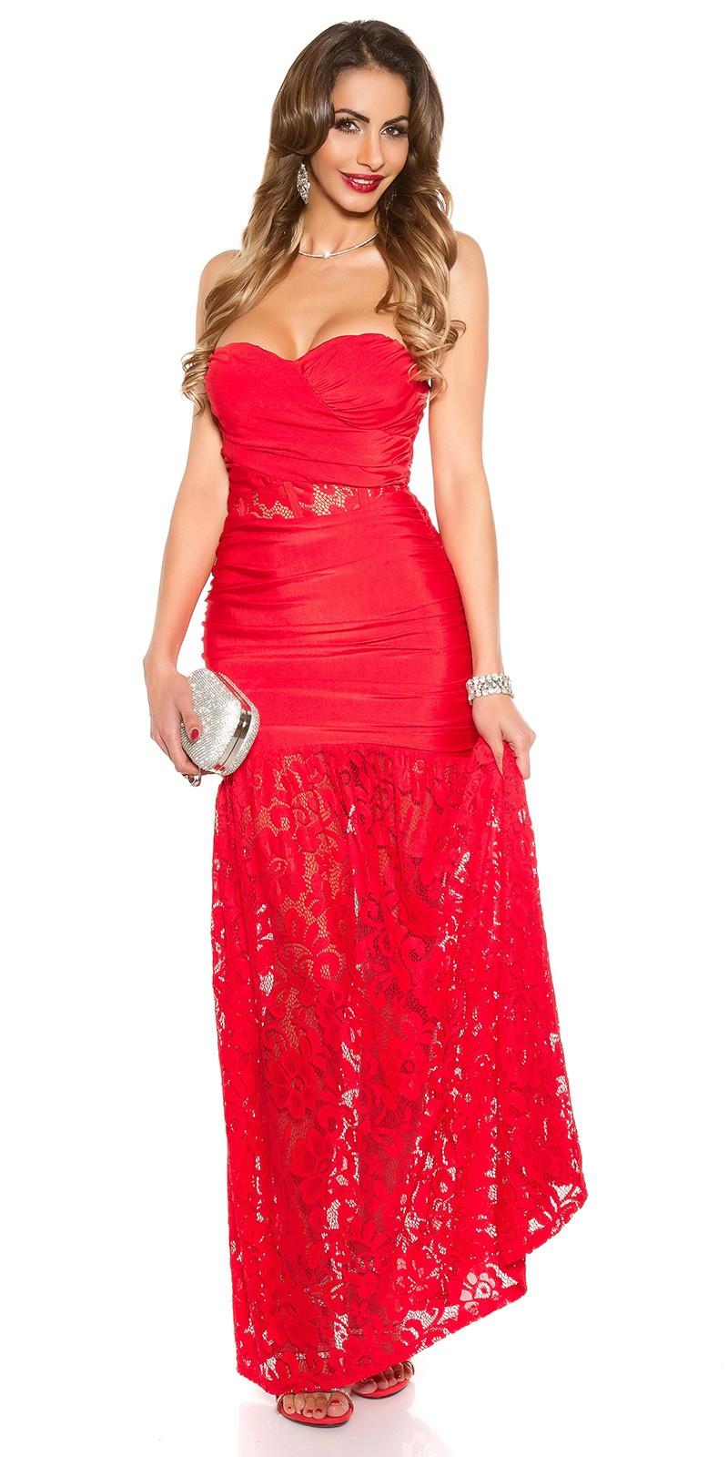 molto carino ba75a debec AL100 Abito da cerimonia lungo elegante rosso abito da sera