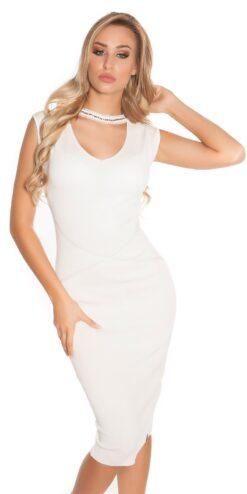 4f500ca4be05 Visualizzazione Veloce. Promozioni. ACM005 Abito corto di maglia sexy  ianzanoshopping bianco