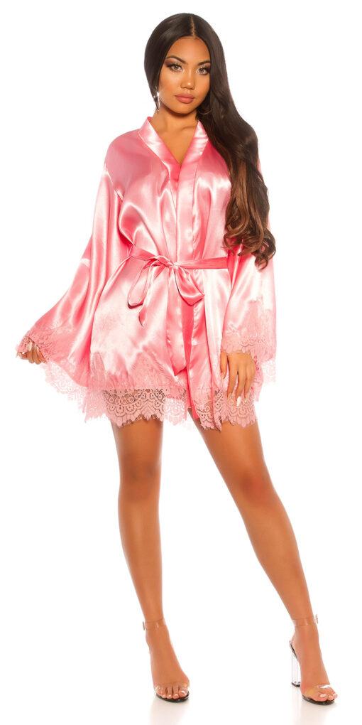 Kimono vestaglia rosa