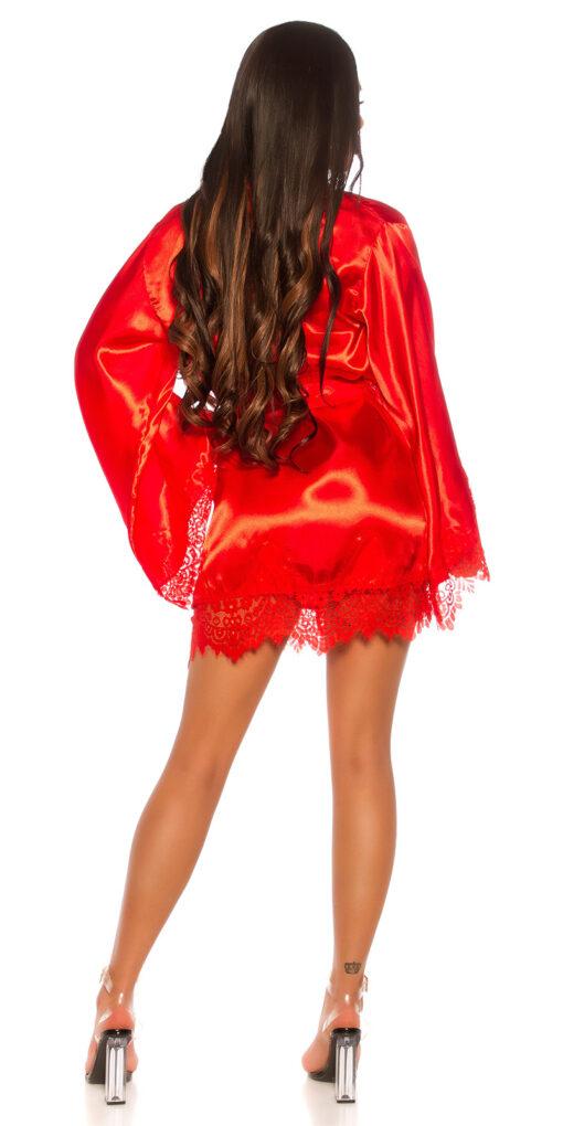 vestaglia kimono rosso dietro
