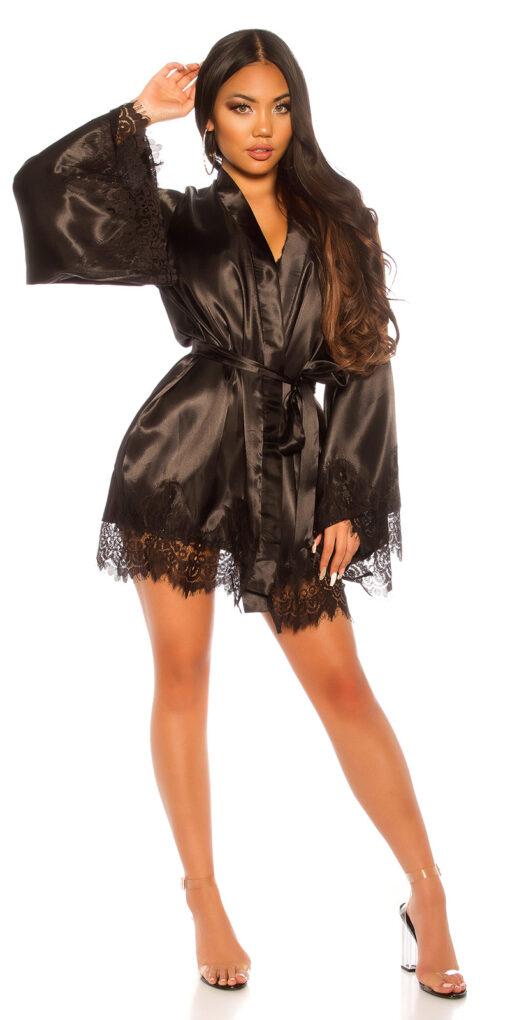 kimono vestaglia nero