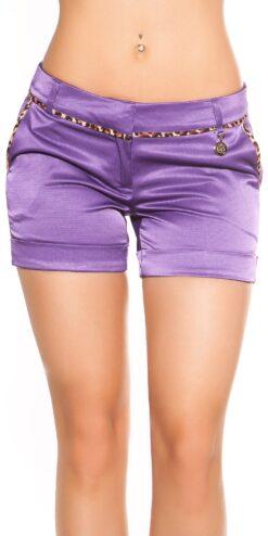 pantaloncino elegante viola