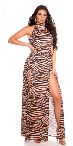 abito con stampa animale zebrato
