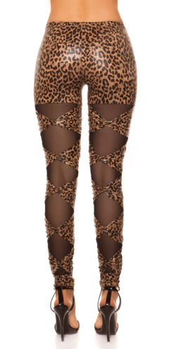 Leggings leopardato